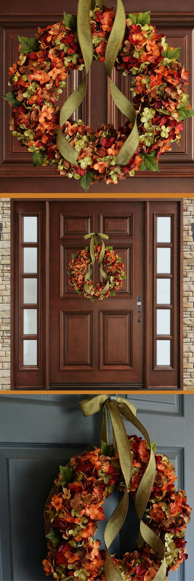 Fall Blended Hydrangea Wreath | Fall Decor | Autumn Wreaths | Front Door Wreaths...
