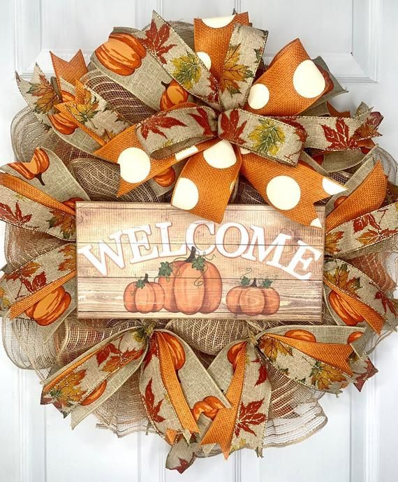 Fall Welcome Storm Door Wreath Fall Welcome Screen Door | Etsy