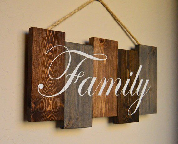 Family pallet wood sign - Home Decor wood sign This pallet wood sign is sanded, ...