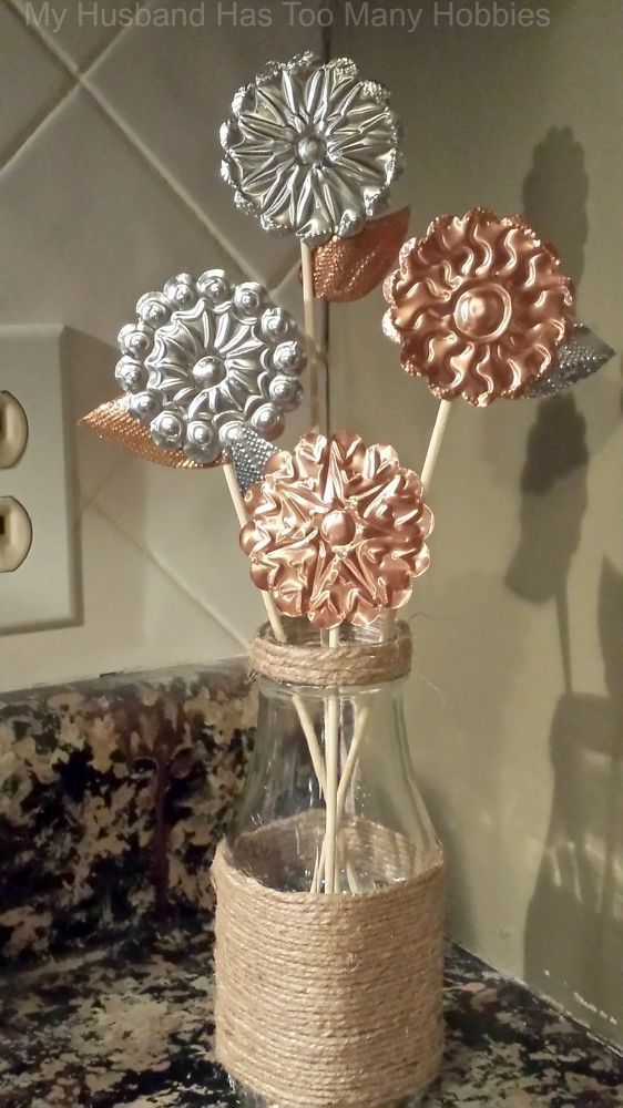Faux spring flowers to decorate your home for spring. Craft beautiful spring DIY...