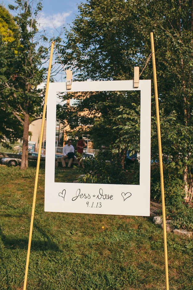 Giant Polaroid Frame, could you work on the beach? Instead of a photo booth to ...