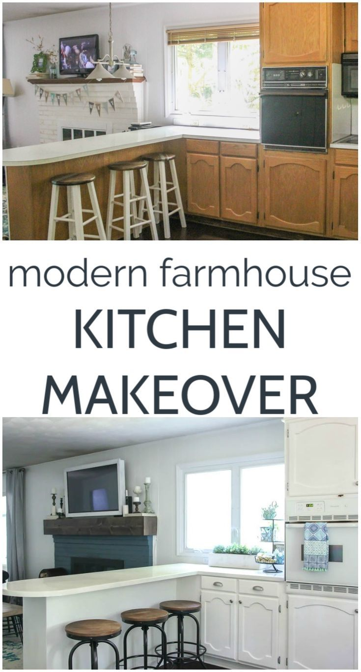 Give any kitchen modern farmhouse style on a budget with inexpensive DIY project...