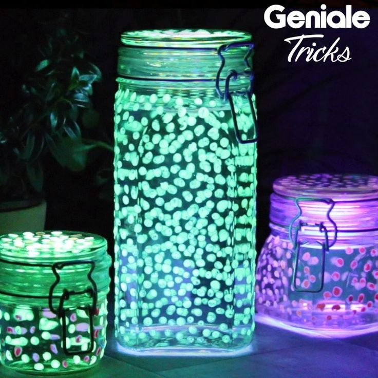 Glowing garden decoration