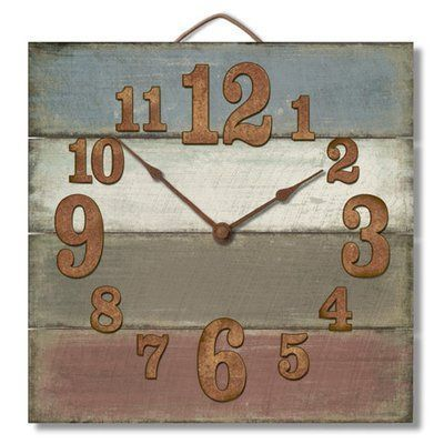Gracie Oaks Cassandrea Square Wood Pallet Wall Clock