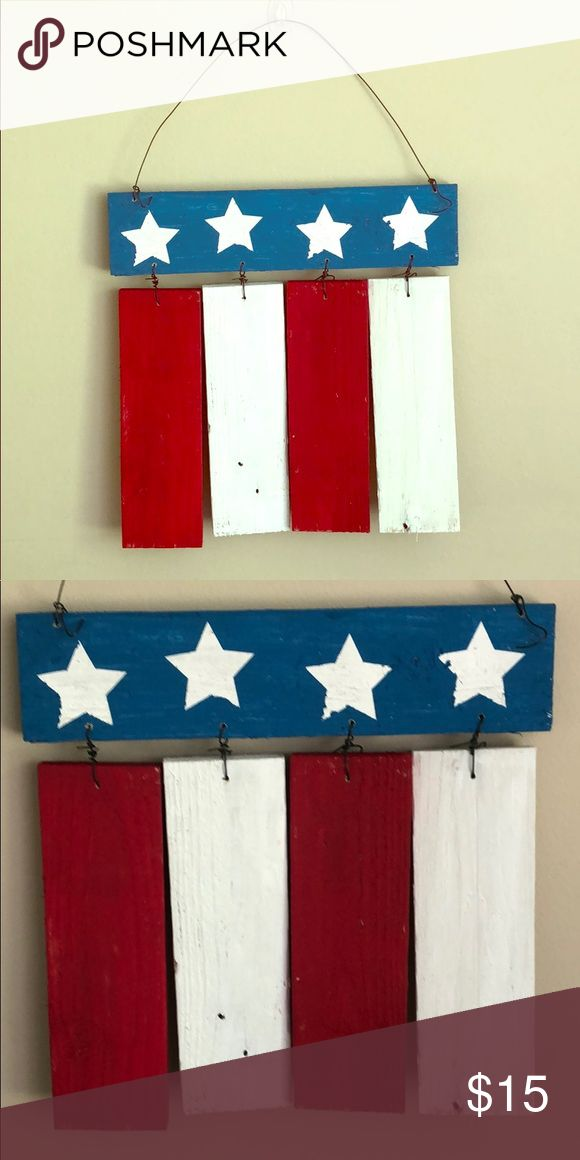 Handmade American Flag This American Flag hanger is handmade and hand painted fr...