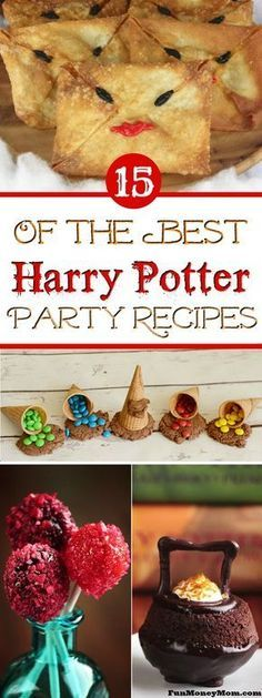 Harry Potter Recipes - These Harry Potter foods are perfect for a kids birthday ...