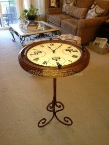 Hometalk :: DIY Clock Table. Such a neat idea.  Follow me for great posts all da...