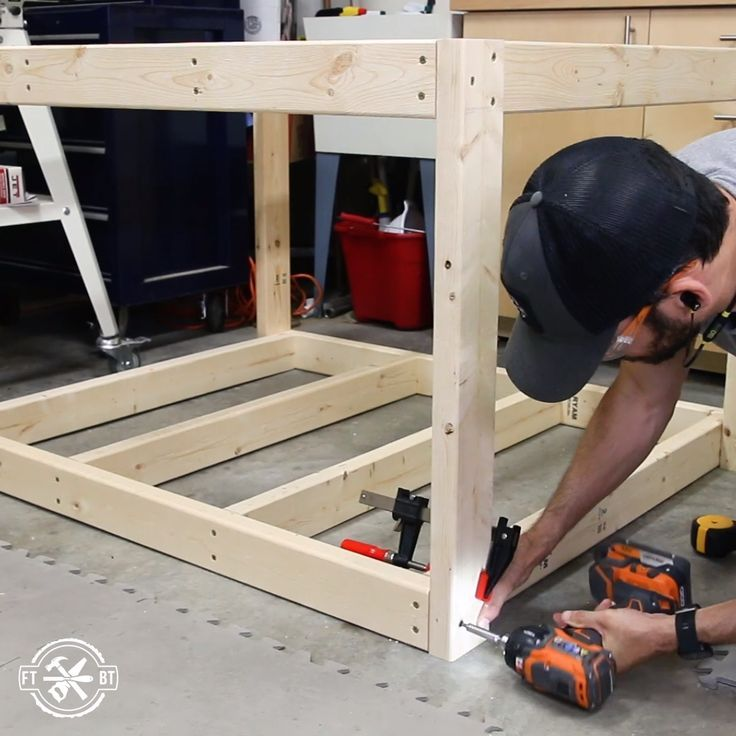 How to Build a DIY Workbench / Work Table from 24s #WoodWorking