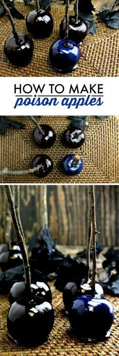 How to Make Disney Poison Apples ~ with glossy black, blue, or purple candy coat...