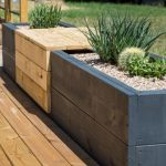 How to Make a Chic, Modern Planter Bench - #Bench #Chic #Modern #Planter #table