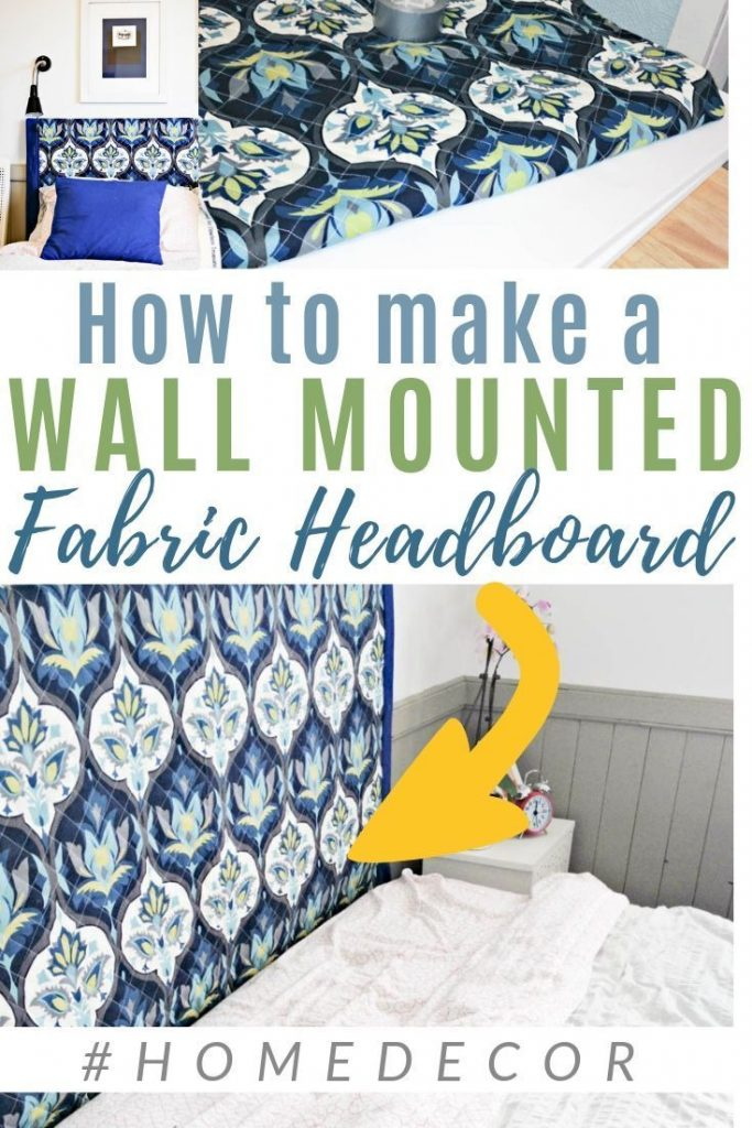 How to easily make your own wall mounted fabric headboard! This DIY project is s...