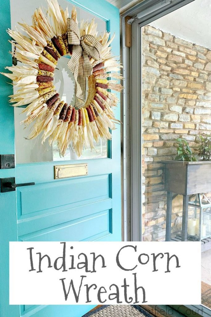 How to make a DIY Indian corn cob wreath. Such an easy craft to do and it's the ...