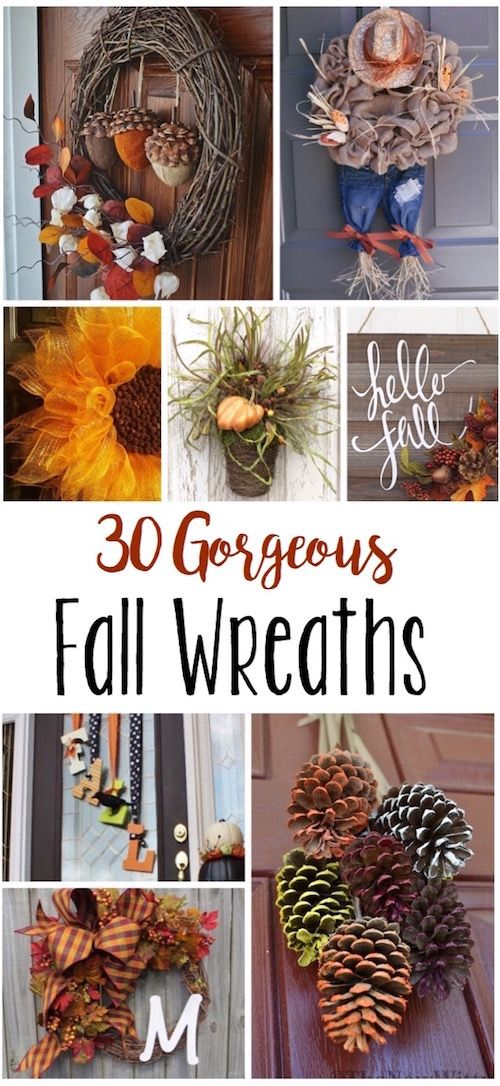 I am obsessed with all of these fall wreaths! I need to somehow come up with 30 ...