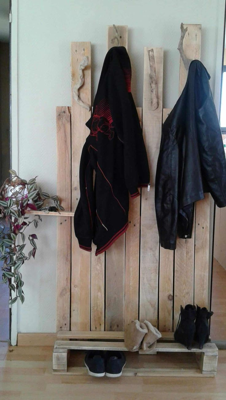 I made this coat rack from reclaimed pallets since I did not want to fix it on w...