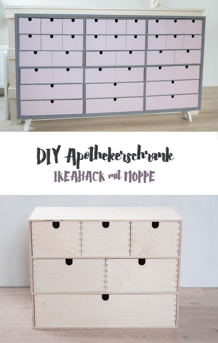 IKEA Hack Pharmacy cupboard made of mop - DIY furniture - clever storage ...