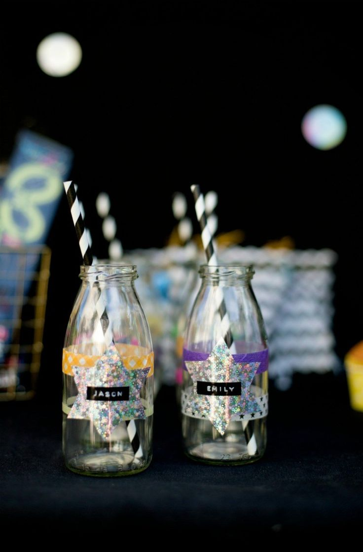 Ideas and Sweet Table for a disco party birthday party with disco ball cake ...