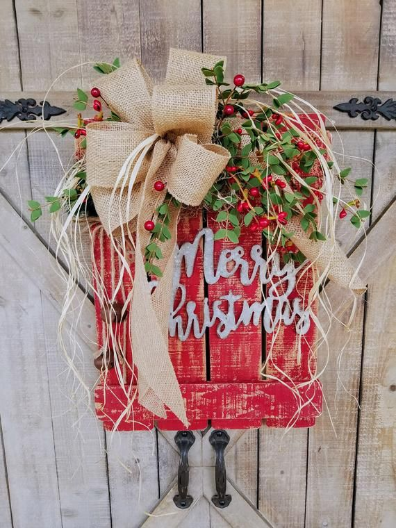 Instill a cozy, country vibe in your seasonal display with Merry Christmas Wood ...