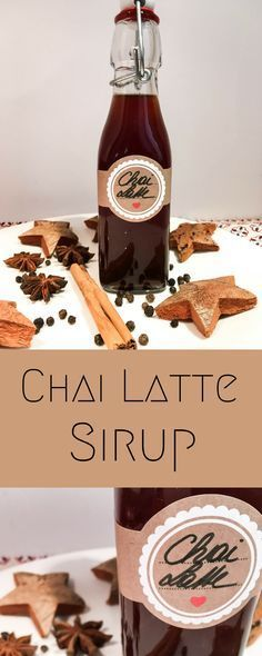Just vegan instead of honey maple syrup ✨ #Chai #Latte #Sirup #DIY
