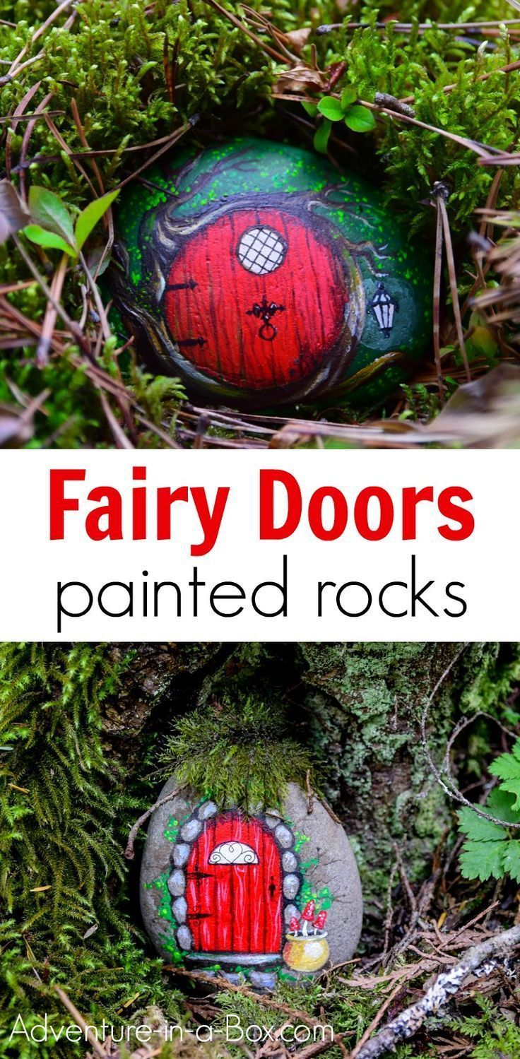 Learn how to turn a painted stone into a fairy door! Hide ...