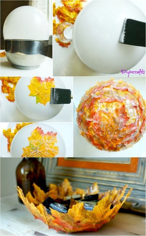Legend How To Make These Beautifully Decorative DIY Case Leaf Bowls #de ...