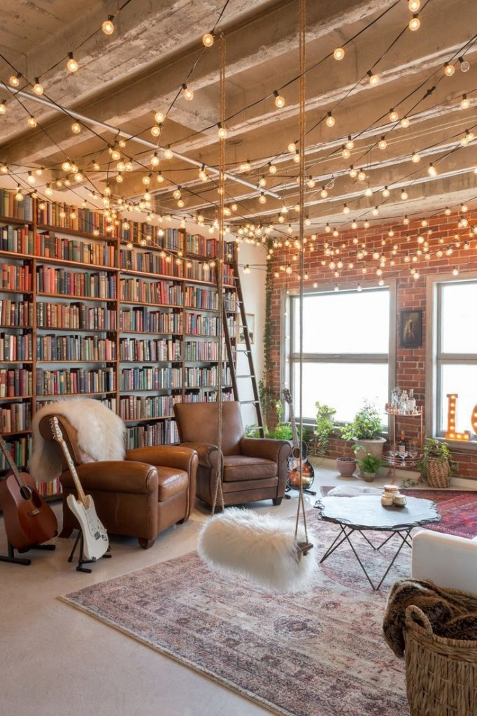 Live loft. Would be cool to try this one day. I add bookshelf ...