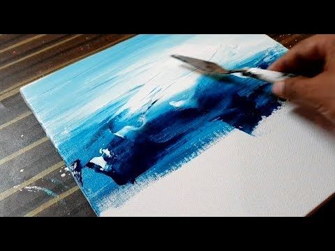 Making of Easy Abstract Painting / Landscape / Acrylics / Project 365 days / Day...