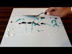Making of Easy Abstract Painting just using Palette knife / Acrylics / Project 3...