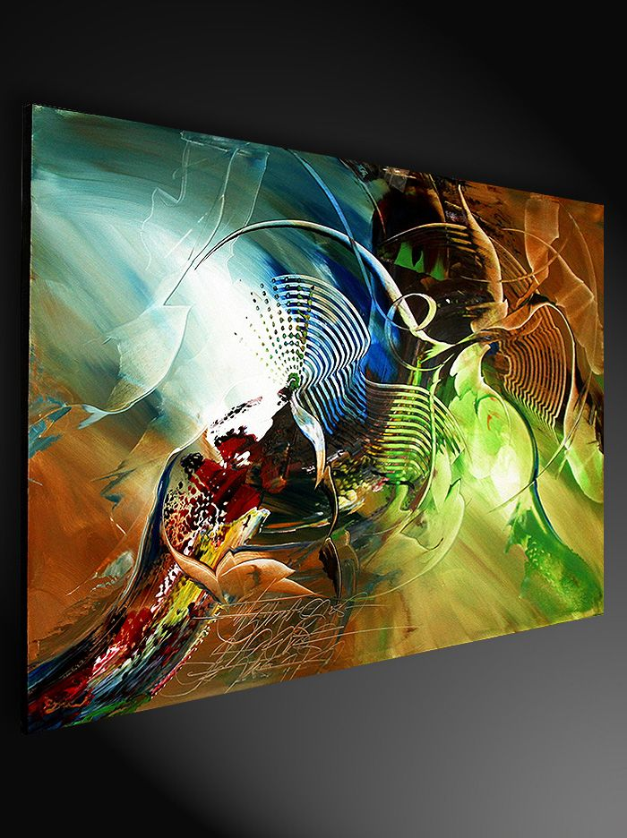 "Modern Abstract Canvas Art Painting, Dieu: ""Submission II"" - Inspire Art - G ..."