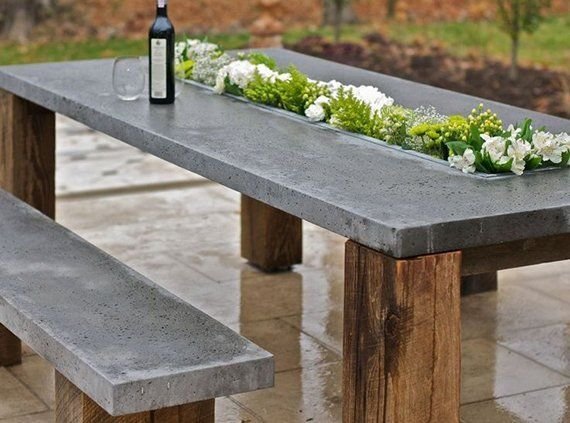 Modern-and-inspiring-Gartendeko-of-Beton_diy-table-and-seat-of-th ...