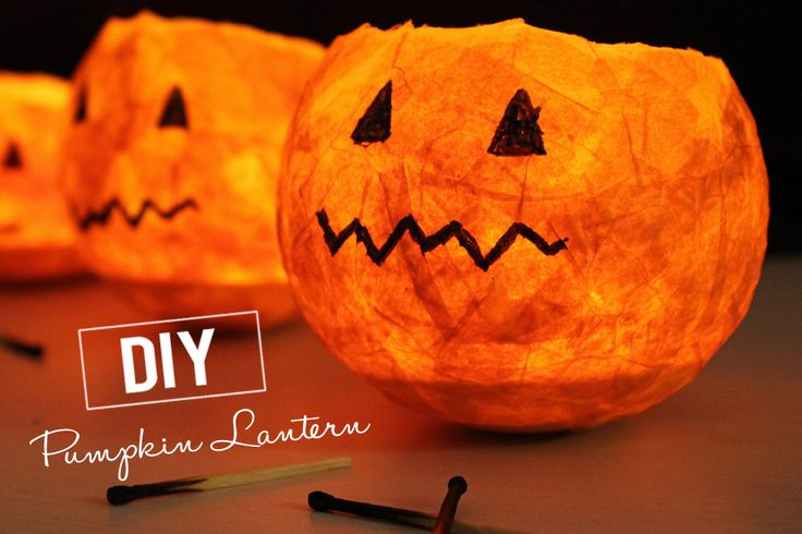 """Obviously, these are jack-o'-lanterns from balloons & papier mache, not """"Swe..."""