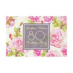 Old Roses 80th Birthday Party Guest Book