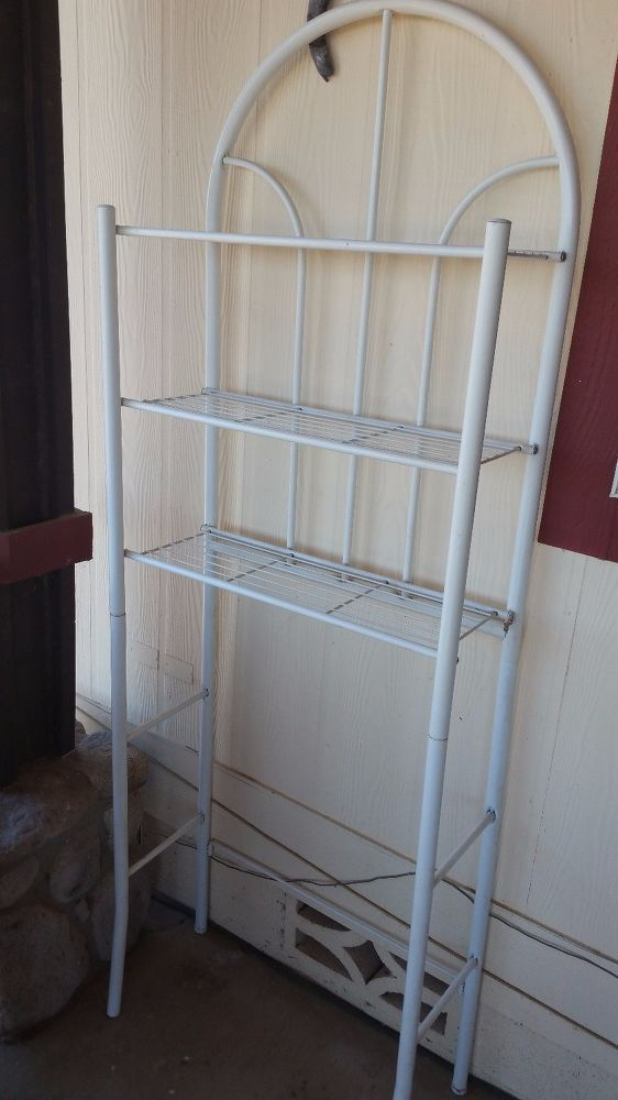 Over Toilet Spacesaver Shelf Upcycle I get lots of hand-me-downs from my mom, an...