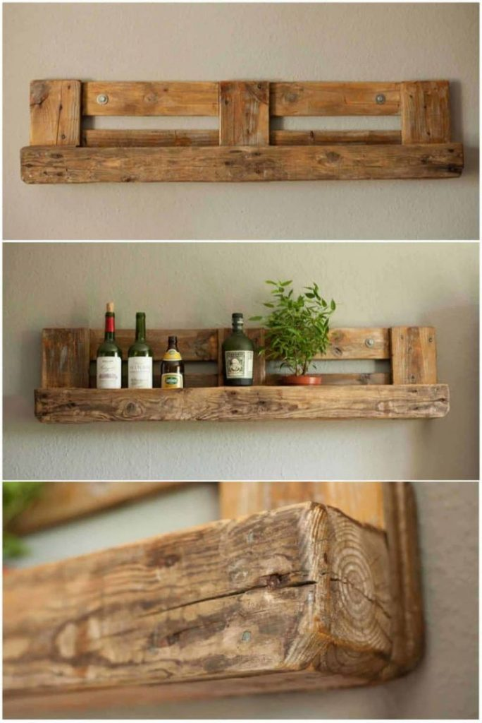 Pallet Rustic Shelf: Here is the simple shelf I've made with repurposed pall...