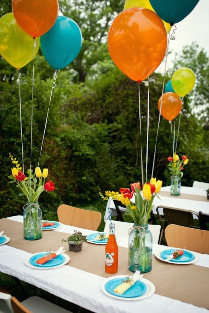 Practical and Cool Deco Ideas Garden Party Balloons Table Decoration *** Decoration for ...
