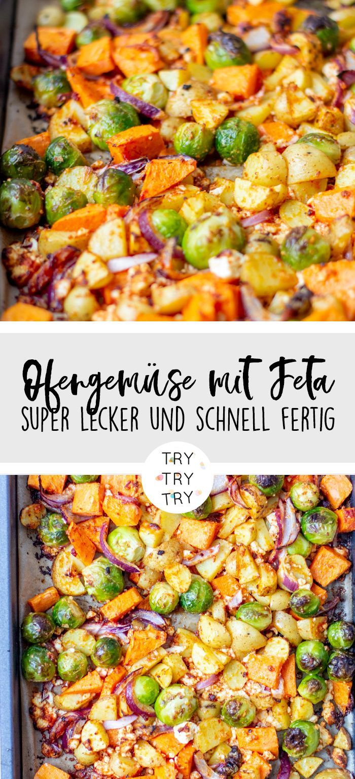 Quick oven vegetables with delicious winter vegetables
