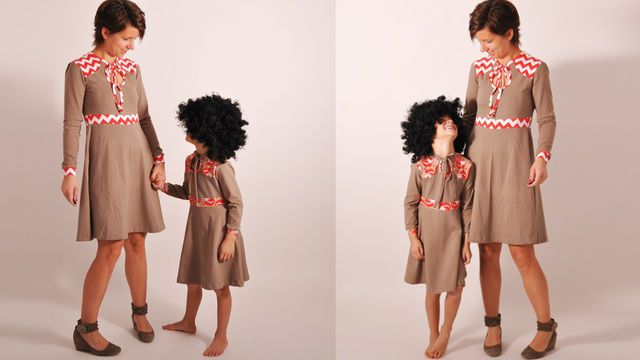 Set women + kids • # 80 PARTY.dress / -shirt & # 81 PARTY.dress / shirt