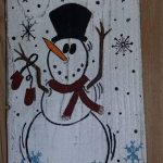 Snowman stocking hanger, wood Christmas  stocking hanger. Rustic snowman, pallet...