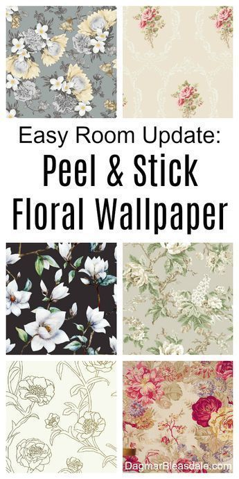 Stunning floral wallpaper, self-adhesive so it's super easy to add to the wall. ...