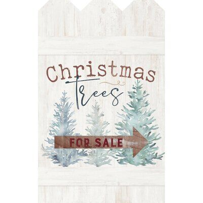 The Holiday Aisle 'Christmas Trees for Sale' Painting on Wood