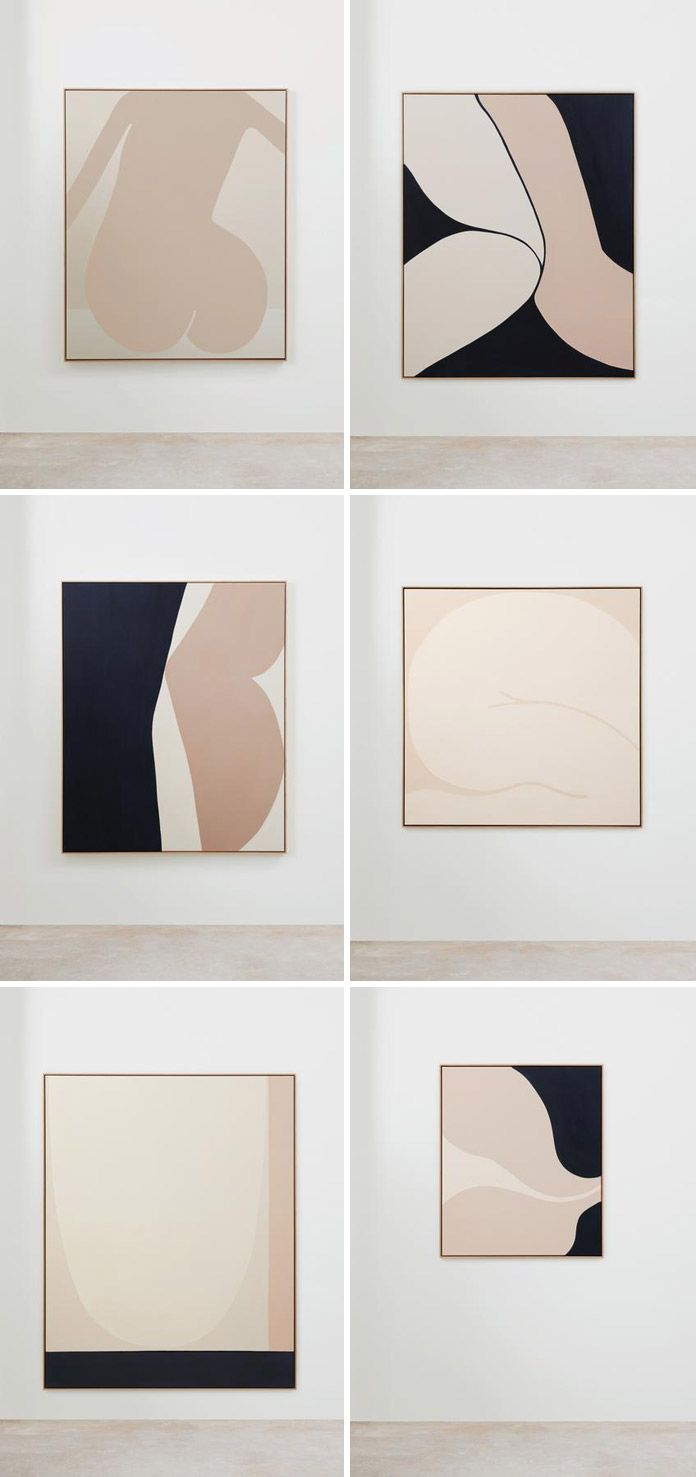 These abstract paintings by Australian artist Caroline Walls are inspired by the...