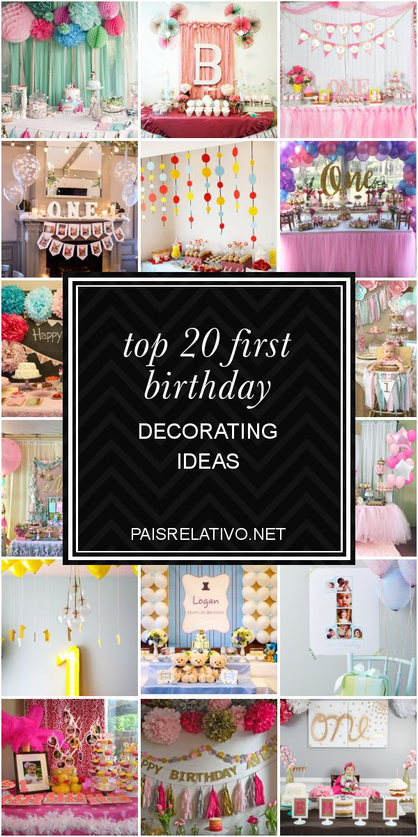 Top 20 First Birthday Decorating Ideas – Home Inspiration and DIY Crafts Ideas