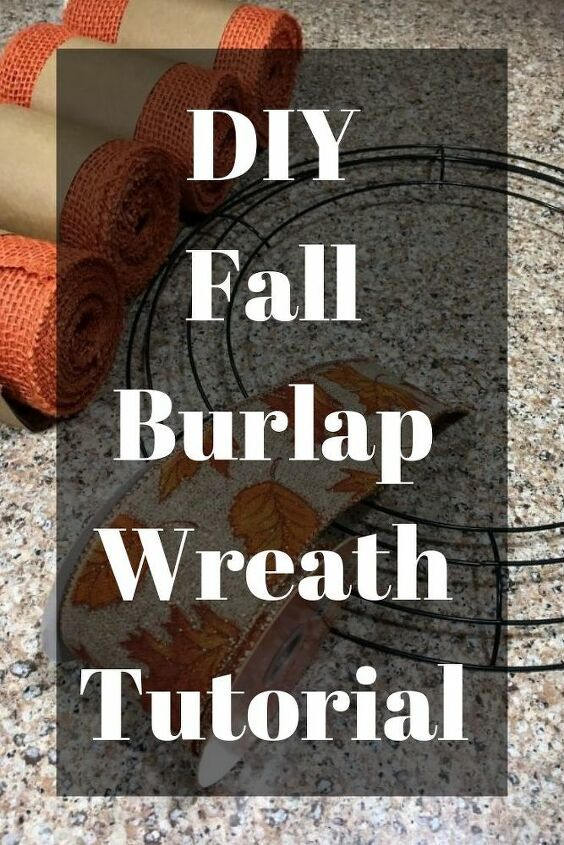Burlap wreaths don't have to be difficult. Try this easy burlap wreath method ...