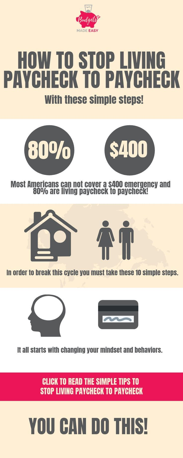 10 Steps to Stop Living Paycheck to Paycheck - #Living #Paycheck #saving #Steps ...