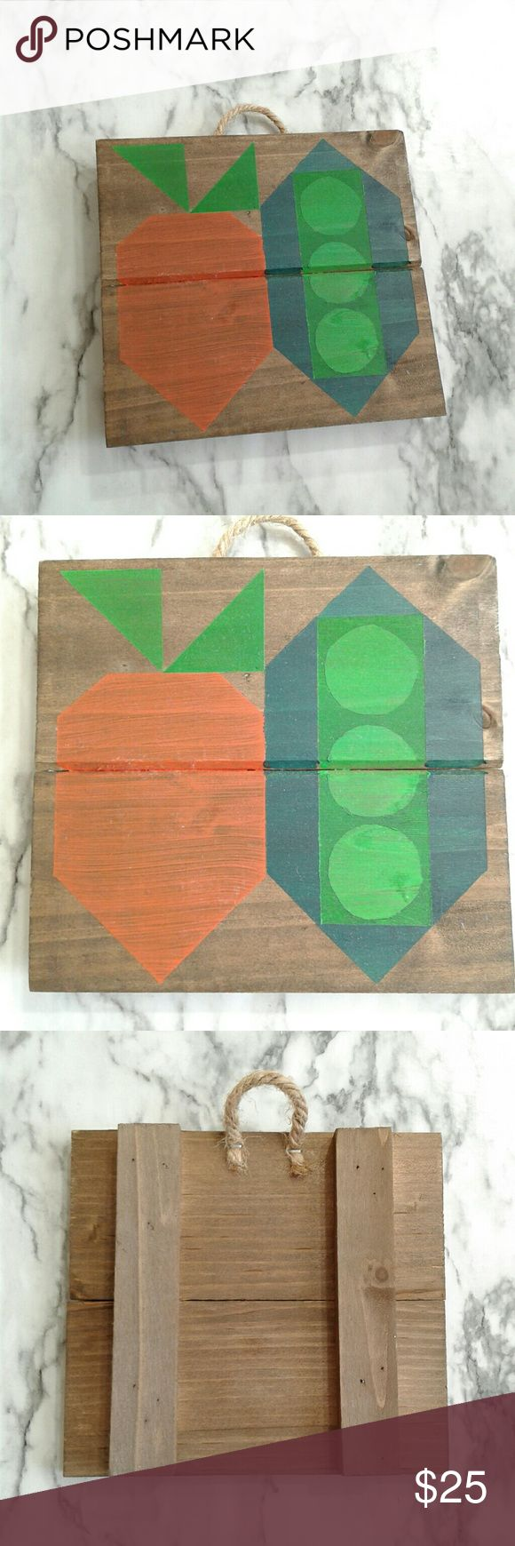 Hand-painted Rustic Kitchen Peas & Carrots Decor Whether you place this in the k...