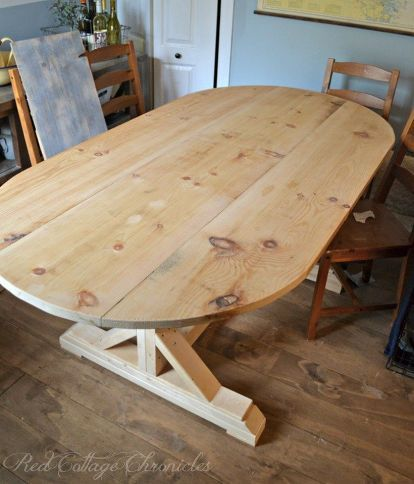 diy farmhouse dining table, how to, painted furniture, woodworking projects