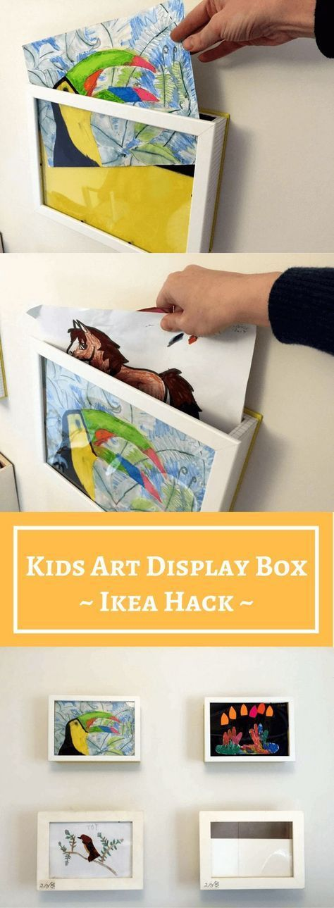 Kids Art Display Box: 10 minutes to save and show your children's art ...