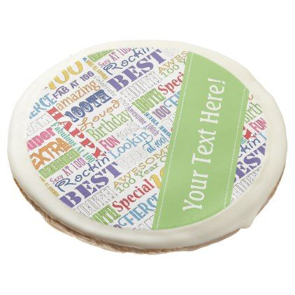 #photo - #Unique And Special 100th Birthday Party Gifts Sugar Cookie